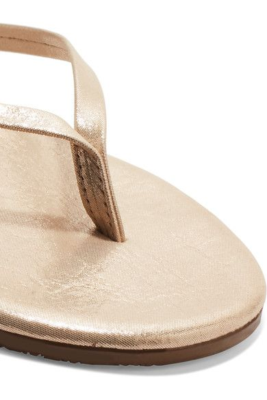 TKEES - Lily Metallic Suede Flip Flops - Gold - US7
