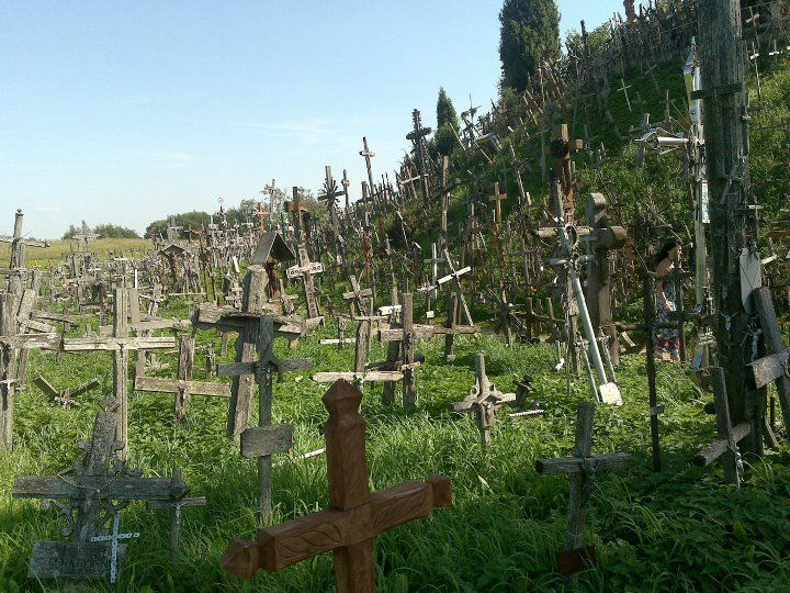 The Hill of Crosses is a site of pilgrimage about 12 km north of the city of Šiauliai, in northern Lithuania. The precise origin of the practice of leaving crosses on the hill is uncertain, but it is believed that the first crosses were placed on the former Jurgaičiai or Domantai hill fort after the 1831 Uprising (wiki)
