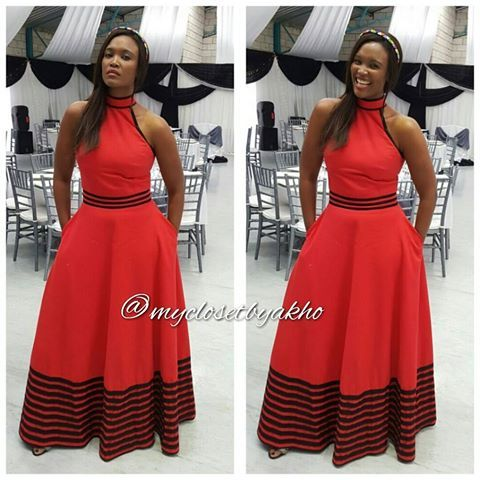 Slaying in red #xhosaqueen #xhosaculture #umbhaco #xhosadress