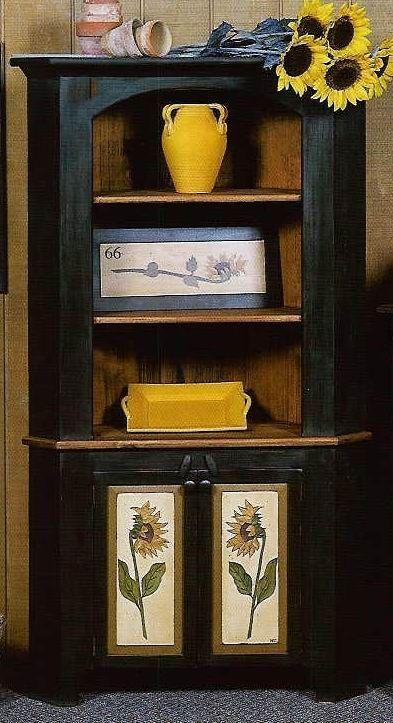 amish rustic hickory corner hutch kitchen hutchkitchen dining roomskitchen. Interior Design Ideas. Home Design Ideas