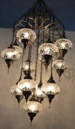 13 ball Ottoman Turkish Lamps, Moroccan Lantern, Chandelier,Turkish Light, Hanging Lamp, lighting,Flooring Light