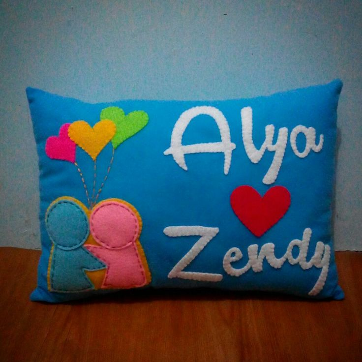 Name pillow for wedding gift for couple
