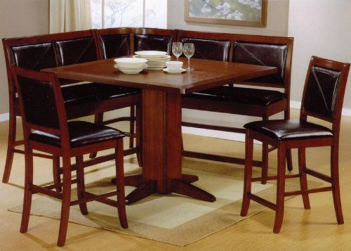 6pc Counter Height Dining Table u0026 Stools Set Dark Brown Finish at // & 65 best small dining tables images on Pinterest | Dining sets ...
