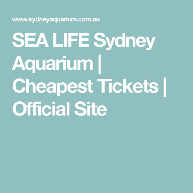 SEA LIFE Sydney Aquarium | Cheapest Tickets | Official Site