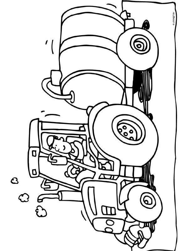 kleurplaat tractor kleurplaten tractor thema