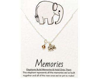 Freundschaft Kette: Silber Elefant Halskette von PetitePolly