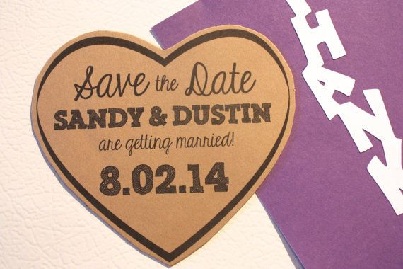 Die Cut Magnet Save the Date Rustic Heart Save the Date. Click through to find matching games, favors, thank you cards, inserts, decor, and more. Or shop our 1000+ designs for all of life's journeys. Weddings, birthdays, new babies, anniversaries, and more. Only at Aesthetic Journeys