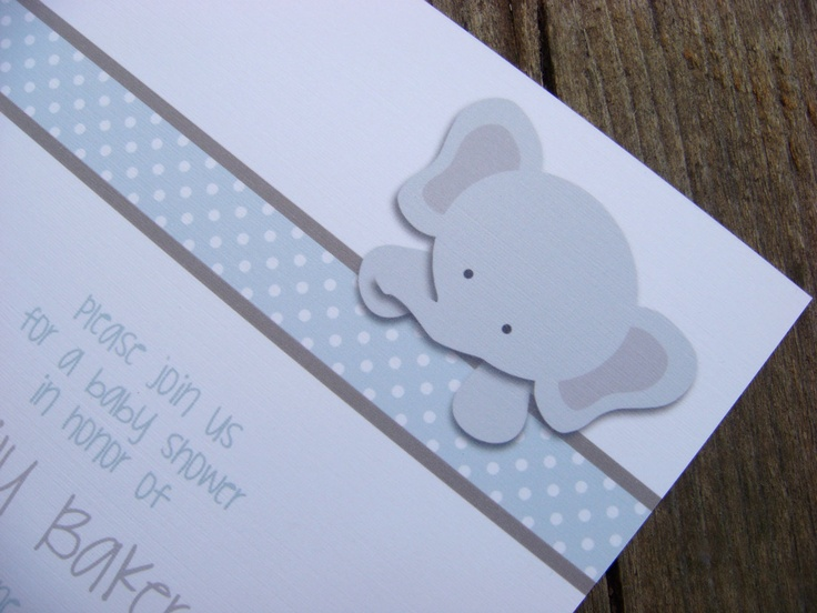 little elephant baby shower invitations set of 25
