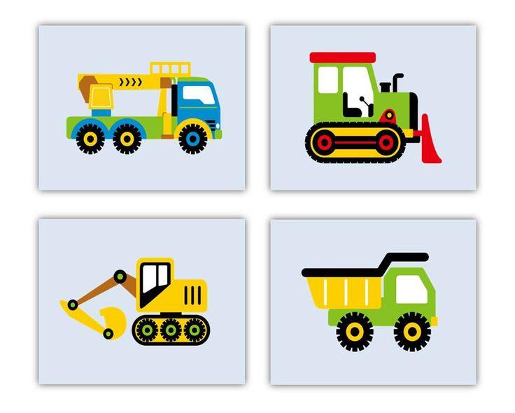 Art For Boys Room Decor Construction Nursery Wall By Littlepergola 55 00