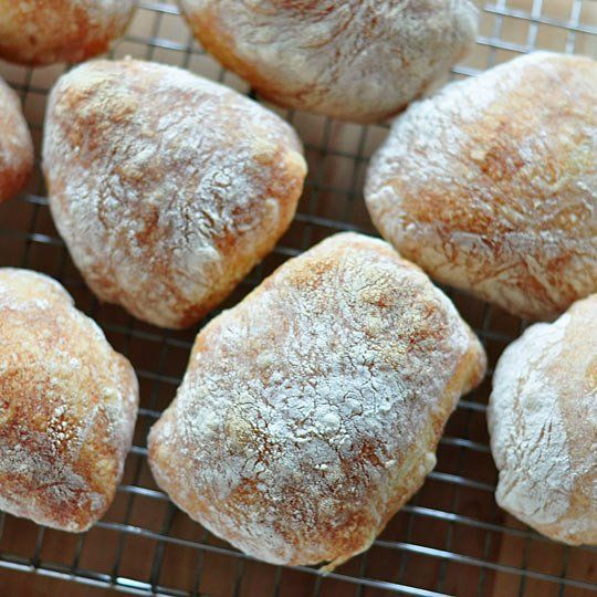 Love ciabatta... so expensive... got my biga started tonight... will try this tomorrow ... How to Make Ciabatta Rolls and Loaves at Home