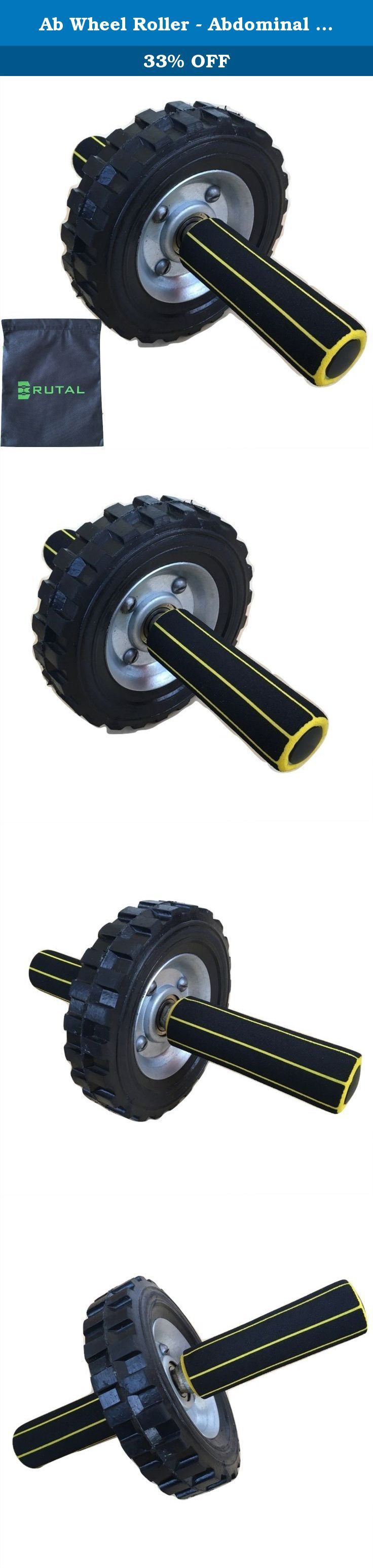 Ab Wheel Roller - Abdominal Carver to Tone Core, Arms & Back - Heavy Use Exercise Gear for Home or Gym Workout - Perfect for Fat Burning & Weight Loss Training - Includes Foam Handles and Carry Bag. Are you tired of waiting forever to see results from your workouts? They take so long to arrive because most routines hit only one muscle group at a time. Now your problem is solved with the BRUTAL AB ROLLER! Don't worry about expensive gym memberships. Our innovative design provides you a…