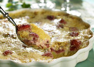 Cremebrûléetærte med jordbær