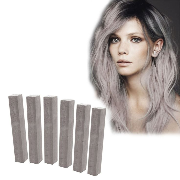 Best Ash Gray Hair Dye Set  CLOUDY  6 Dark Grey Hair Chalks  DIY Dim Grey