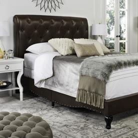 Safavieh Hathaway Brown Queen Bed Frame Fox6214g-Q