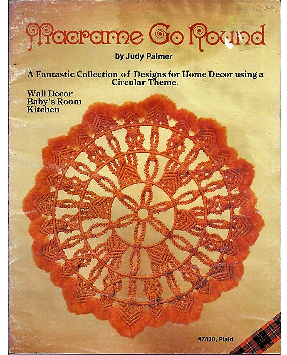 Macrame Go Round Macrame Pattern Book Plaid No. 7430. $7.00, via Etsy.