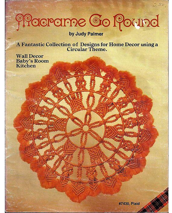 Macrame Go Round Macrame Pattern Book Plaid No. 7430. $7.00, via Etsy.