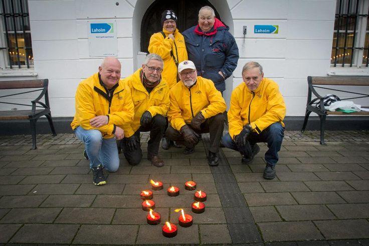 På alla hjärtans dag ska Lions fylla Stortorget i Laholm med brinnande hjärtan. Alla som köper en marschall bidrar till insamlingen till den lokala hjärt- och lungföreningen.