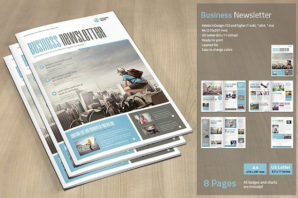 Business Newsletter by MrTemplater on @creativemarket