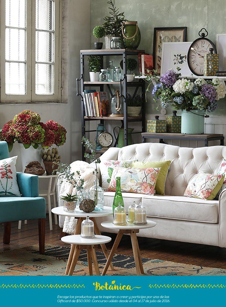 Estilo #Botanica para un hogar romántico y pausado, lleno de energía de los colores típicos de nuestra naturaleza ! Me encanta!