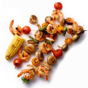 Grilled Shrimp-and-Vegetable Kebabs   MyRecipes.com