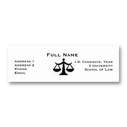 15 Best Business Cards For Law Students Images On Pinterest Law