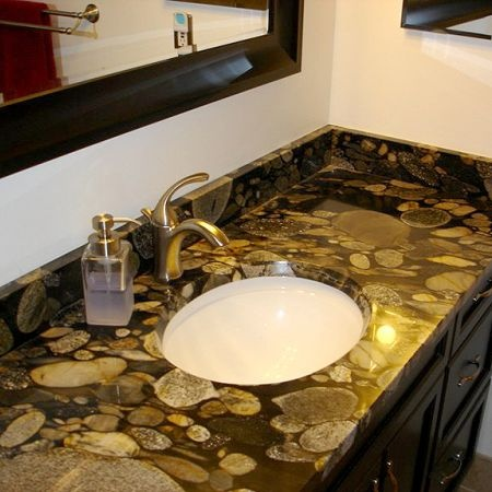 Granite countertops for bathroom sinks