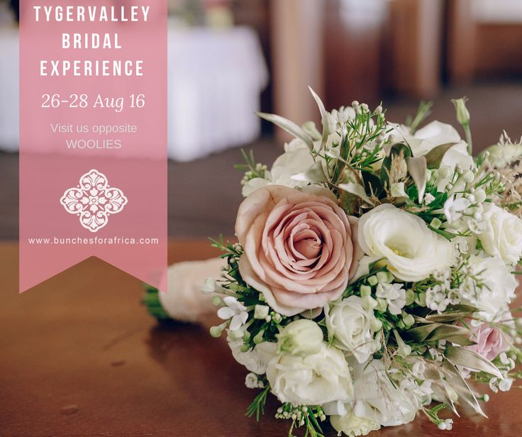 Follow-up invite to Bridal Expo for Bunches for Africa (florist shop)