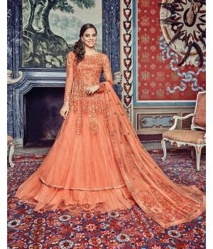 Amazing Orange Net Designer Suit $165.00. Look ravishing as you step out in the Amazing Orange Net Designer Suit, which combines class with elegance. The net kameez comes in a lovely shade of orange and features exquisite designer embroidery, which also comes on the dupatta.