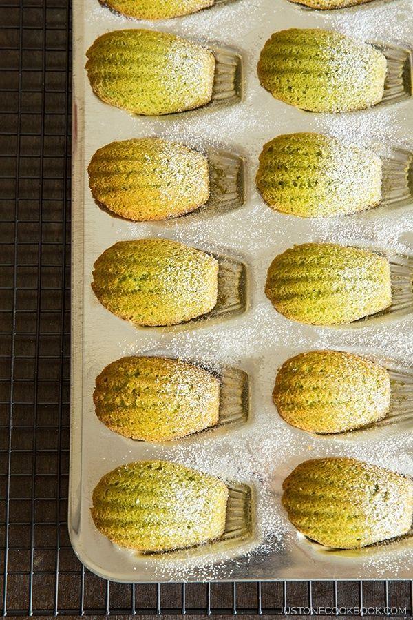 Green Tea Madeleine (Matcha Madeleine) | Easy Japanese Recipes at JustOneCookbook.com