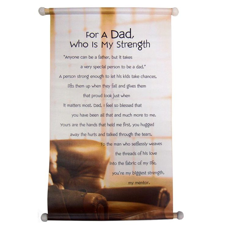 "FOR A DAD, WHO IS MY STRENGTH RS. 165.00 For A Dad, who is My Strength  ""Anyone can be father, but it takes a very special person to be a dad."" A person strong enough to let his kids take chances, lifts them up when they fall and gives them that proud look just when it matters most. Dad, i feel so blessed that you have been all that and much more to me. Yours are the hands that held me first, you hugged away that hurts and talked through the tears."