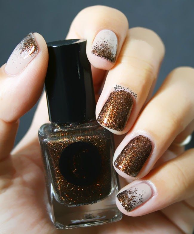 Glitter and Nails: French Roast // Cirque + dégradé de paillettes