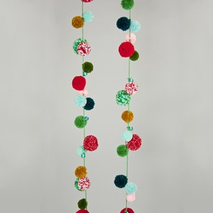 Pom Pom Garland Green now featured on Fab.
