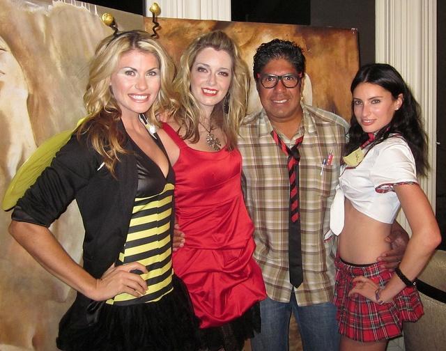 Lauren Slater, Tara Hunnewell, Gordon Vasquez, Samantha Gutstadt, Bel Air Magazine Halloween Ball by Real TV Films, via Flickr