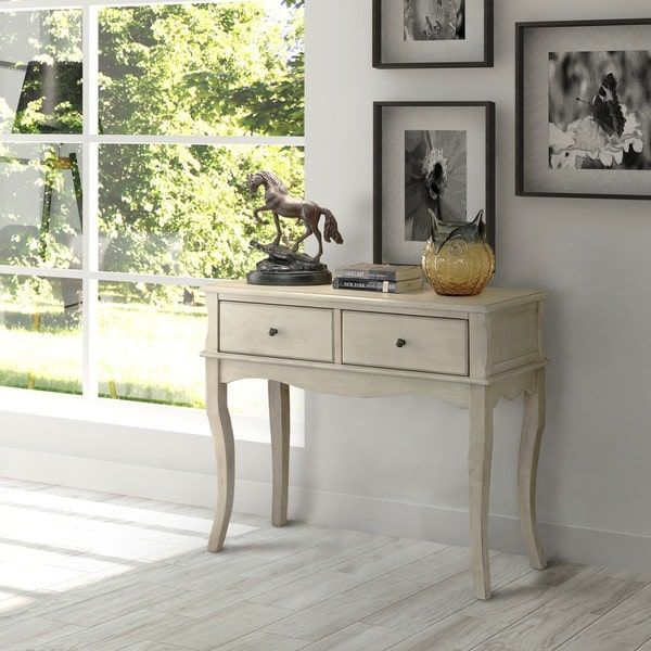 Furniture of America Madelle II Vintage Style 2-drawer Entryway/Hallway Sofa Table