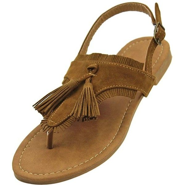Camel Suede Boho Sandals With Tassel & Fringe Trim ($30) ❤ liked on Polyvore featuring shoes, sandals, camel, flats women, footwear, fringe sandals, dangling flats, pointy-toe flats, bohemian sandals and suede fringe sandals