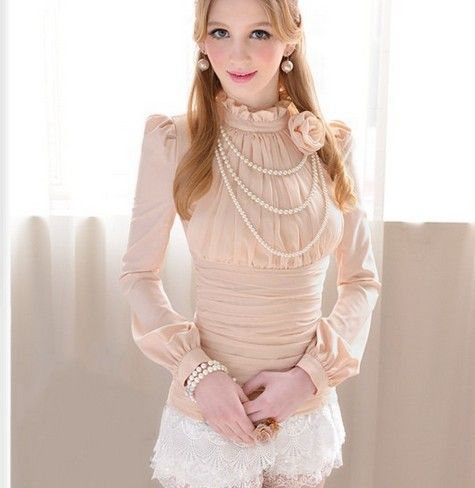 Amazing OL Style Slim Long Sleeves Blouse Blouses- ericdress.com 10779750