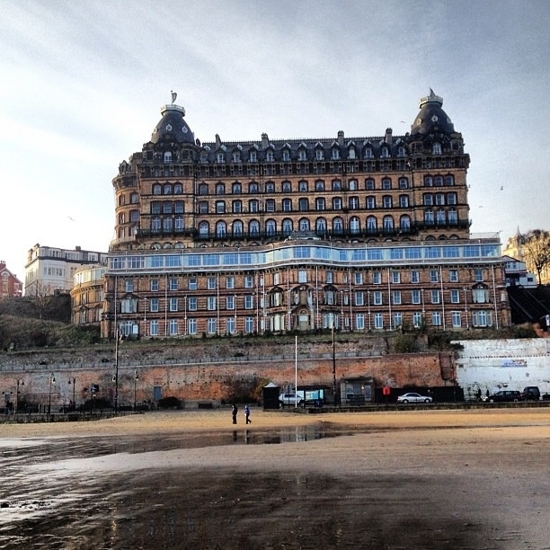 Scarborough, England. The Majestic Hotel