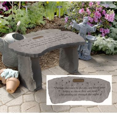Sympathy Stones For The Garden 16 best memorial stone images on pinterest memorial plaques stars personalized cast stone memorial garden bench workwithnaturefo