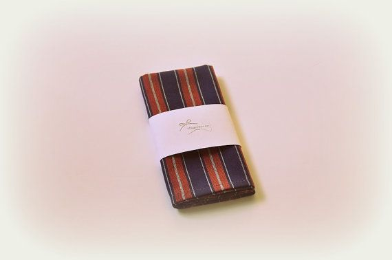 Striped men's pocket handkerchief. Men's pocket square. Pocket kerchief. Wedding pocket square. Striped pocket square. Back to school