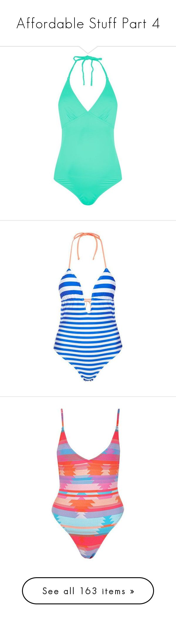 """""""Affordable Stuff Part 4"""" by drazahybbag ❤ liked on Polyvore featuring swimwear, one-piece swimsuits, halter swimsuit, striped swimsuit, nautical one piece swimsuit, halter neck swimsuit, topshop bathing suits, swim suits, aztec swimwear and topshop swimwear"""