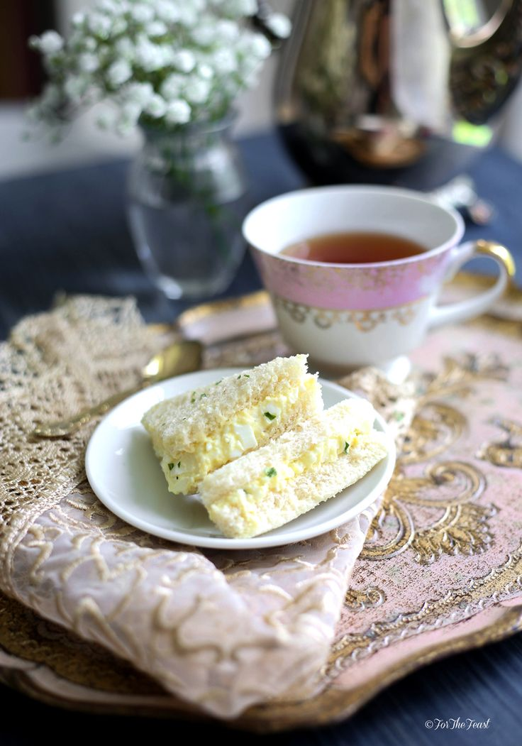 Try these Egg Salad Finger Sandwiches. They are simple, elegant, and easy to make. Perfect for an afternoon tea, brunch or a Sunday gathering.