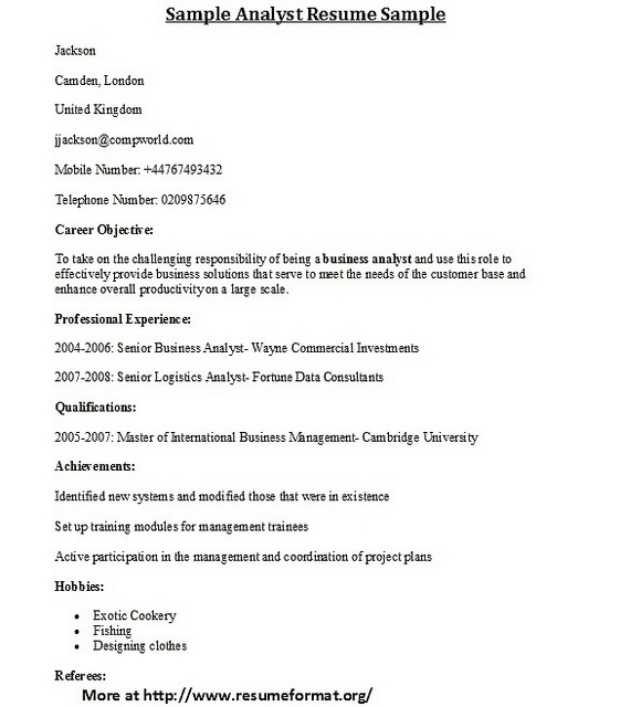 26 best Cover letters and resumes images on Pinterest Magnets - sample of business analyst resume