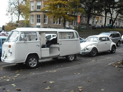 Hire Vintage Wedding Cars In England VW Karman Soft Top Beatle Volkswagon Camper Van Limo Car For Retro Weddings