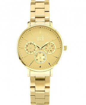 Γυναικεία Ρολόγια : VISETTI Operetta Multi Ladies Gold Stainless Steel Bracelet PE-796GY