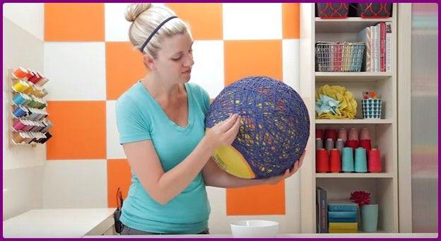 DIY priadze Luster Tienidlo-Globe s príveskom lampy (Video)