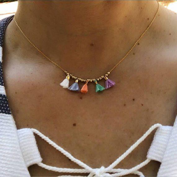 Quaste Halsketten, Quaste Schmuck, Boho Schmuck, Schwester Schmuck, Geschenk für sie, Boho Hochzeit   – Colares