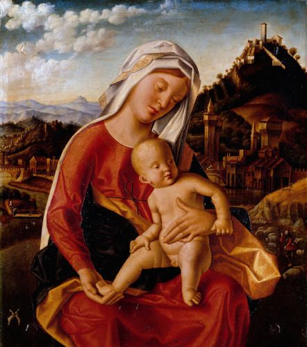 Bartolomeo Veneto - Madonna con Bambino - 1505 ca. - Accademia Carrara di Bergamo Pinacoteca
