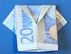 Geldgeschenk Jacke  - deutsche Bildanleitung