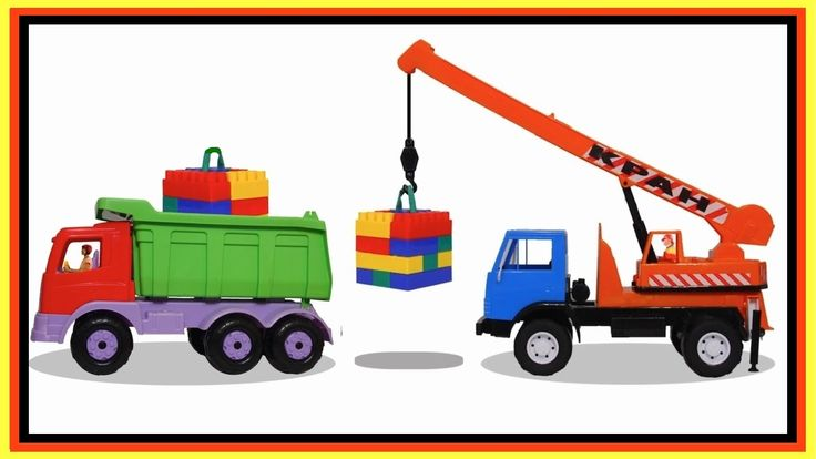 LEGO Truck Cargo! - Masha and the Car Clown Crane!