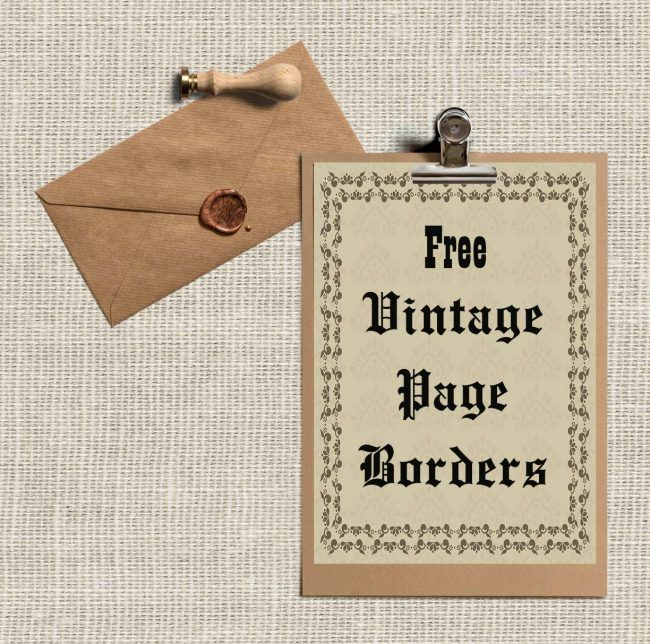 17 best Vintage Borders images on Pinterest Borders free, Vintage - free paper templates with borders